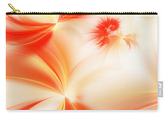 Carry-all Pouch featuring the digital art Dreamy Orange And Creamy Abstract by Andee Design