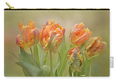 Carry-all Pouch featuring the photograph Dreamy Parrot Tulips by Ann Bridges