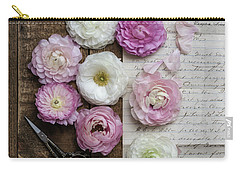 Carry-all Pouch featuring the photograph Dreamy Ranunculus  by Kim Hojnacki