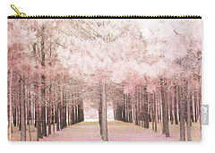 Carry-all Pouch featuring the photograph Dreamy Shabby Chic Pink Nature Pink Trees Woodlands - Pink Nature Nursery Prints Decor by Kathy Fornal