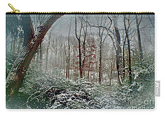 Dreamy Snow Carry-all Pouch by Sandy Moulder