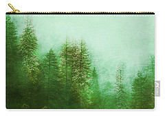 Carry-all Pouch featuring the digital art Dreamy Spring Forest by Klara Acel