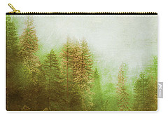 Carry-all Pouch featuring the digital art Dreamy Summer Forest by Klara Acel
