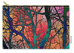 Carry-all Pouch featuring the digital art Dreamy Sunset by Klara Acel