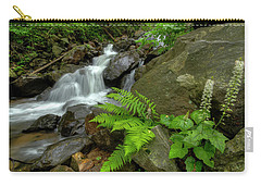Carry-all Pouch featuring the photograph Dreamy Waterfall Cascades by Debra and Dave Vanderlaan