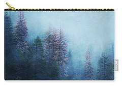 Carry-all Pouch featuring the digital art Dreamy Winter Forest by Klara Acel