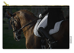 Carry-all Pouch featuring the photograph Dressage D5284 by Wes and Dotty Weber