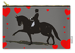 Dressage With Hearts Carry-all Pouch