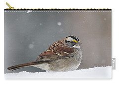 Carry-all Pouch featuring the photograph Dressed For Snow by Living Color Photography Lorraine Lynch