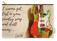 Carry-all Pouch featuring the digital art Drift Away Country by Nikki Marie Smith