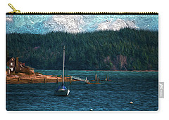 Carry-all Pouch featuring the digital art Drifting by Timothy Hack