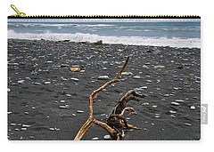 Carry-all Pouch featuring the photograph Driftwood - Okarito Beach - New Zealand by Steven Ralser