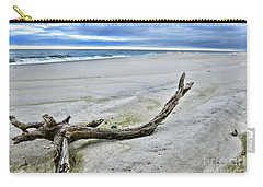 Driftwood On The Beach Carry-all Pouch by Paul Ward