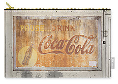 Carry-all Pouch featuring the photograph Drink Coca Cola by Mark Greenberg