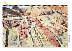 Dripping Color In Valley Of Fire Carry-all Pouch