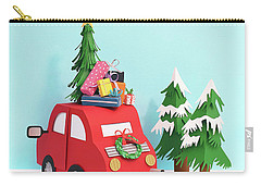 Gift Wrap Mixed Media Carry-All Pouches