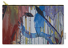 Drizzled Unicorn  Carry-all Pouch by Avonelle Kelsey