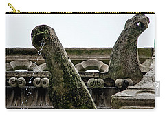 Carry-all Pouch featuring the photograph Drooling Gargoyles by Jean Haynes