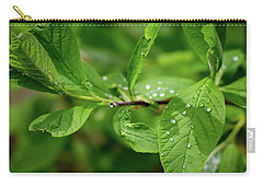 Droplets On Spring Leaves Carry-all Pouch
