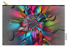 Carry-all Pouch featuring the digital art Drops By Nico Bielow by Nico Bielow