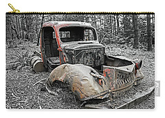 Drove It Into The Ground Carry-all Pouch by Mark Alder