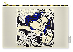 Drowning Girl Carry-all Pouch by Roy Lichtenstein