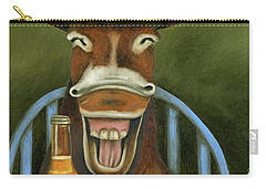 Drunken Dumb Ass Carry-all Pouch by Leah Saulnier The Painting Maniac