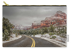 Boynton Canyon Road Carry-all Pouch by Racheal Christian