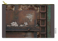 Dry Leaves And Old Steel-iv Carry-all Pouch by Patricia Overmoyer