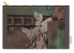 Dry Leaves And Old Steel-v Carry-all Pouch