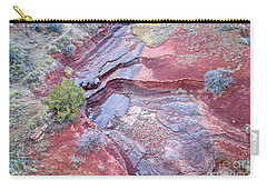 Dry Stream Canyon Areial View Carry-all Pouch
