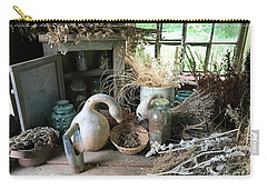 Drying Herbs And Flowers Carry-all Pouch