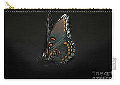 Carry-all Pouch featuring the photograph Drying Wings by Judy Hall-Folde
