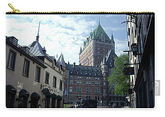 Carry-all Pouch featuring the photograph du Fort Chateau Frontenac by John Schneider