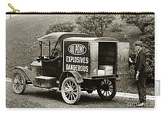 Du Pont Co. Explosives Truck Pennsylvania Coal Fields 1916 Carry-all Pouch
