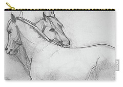Carry-all Pouch featuring the drawing Dual Massage Sketch by Jani Freimann