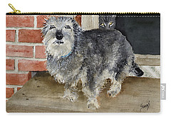 Carry-all Pouch featuring the painting Dub And Tiger by Sam Sidders