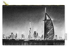 Dubai Cityscape Drawing Carry-all Pouch