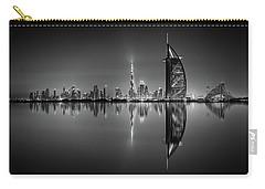 Dubai Skyline Reflection At Amazing Night, Dubai, United Arab Emirates Carry-all Pouch