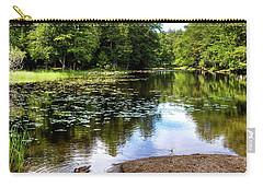 Carry-all Pouch featuring the photograph Duck At Covewood by David Patterson