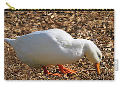 Carry-all Pouch featuring the mixed media Duck Collage Mixed Media A51517 by Mas Art Studio