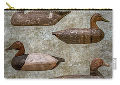Duck Decoys On Brown Carry-all Pouch
