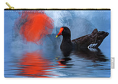 Duck In A Pond Carry-all Pouch by Cyndy Doty