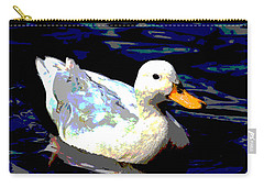 Duck In Water Carry-all Pouch by Charles Shoup
