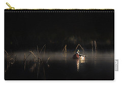 Carry-all Pouch featuring the photograph Duck Of The Morning Mist by Bill Wakeley