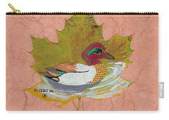 Duck On Pond Carry-all Pouch