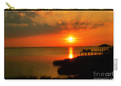 Duck Sunset Outer Banks North Carolina Carry-all Pouch by Randy Steele