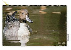 Duck Swimming, Front Portrait. Carry-all Pouch