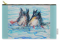 Duck Tails Carry-all Pouch by Denise Fulmer