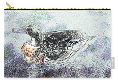 Carry-all Pouch featuring the photograph Duck With Fine Plumage by Nareeta Martin